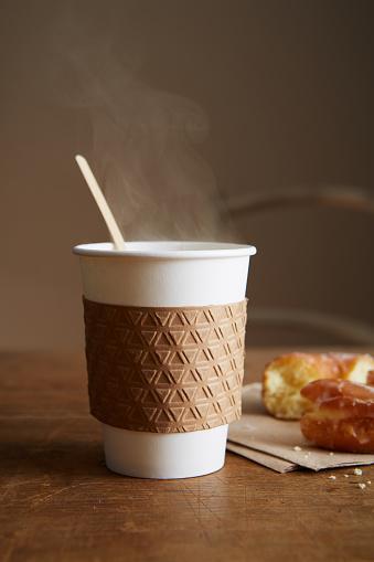 ドーナツ「Coffee and Donut」:スマホ壁紙(14)