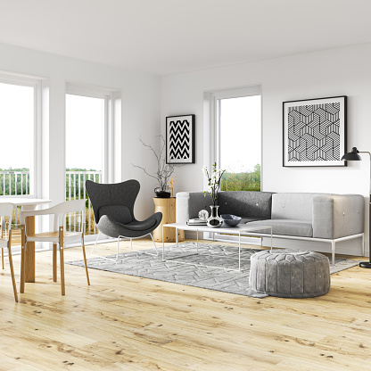 Multi Colored「Scandinavian living room interior」:スマホ壁紙(12)