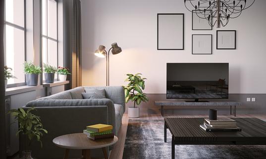 Art「Scandinavian Living Room Interior Close-up」:スマホ壁紙(8)
