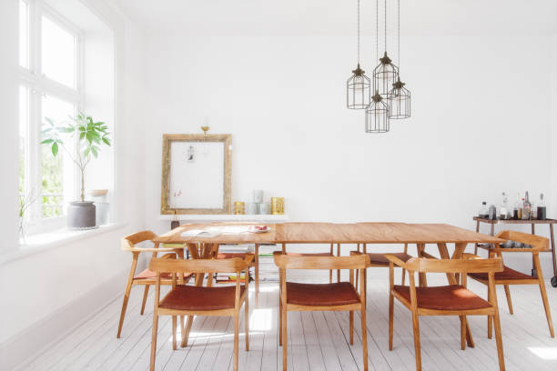 Scandinavian Design Dining Room Interior:スマホ壁紙(壁紙.com)