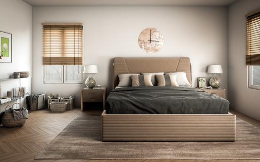 Bed - Furniture「Scandinavian Master Bedroom」:スマホ壁紙(8)
