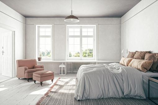 Bed - Furniture「Scandinavian Bedroom Interior」:スマホ壁紙(12)