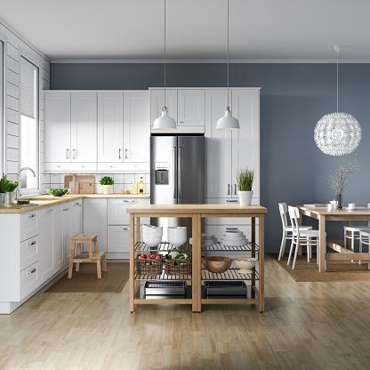 Kitchen Counter「Scandinavian kitchen interior」:スマホ壁紙(10)