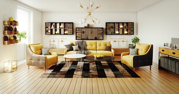 Toned Image「Scandinavian Living Room」:スマホ壁紙(14)