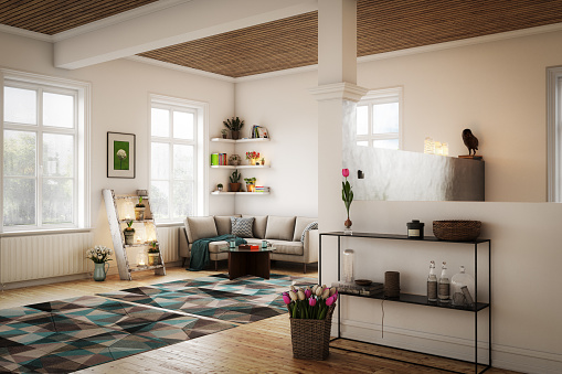 Living Room「Scandinavian Style Interior」:スマホ壁紙(16)