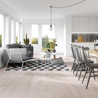 Black Color「Scandinavian interior」:スマホ壁紙(10)