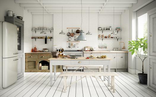 Sun「Scandinavian Domestic Kitchen and Dining Room」:スマホ壁紙(11)