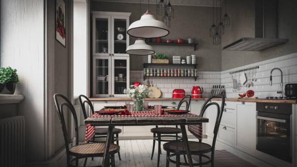 Scandinavian Domestic Kitchen (Toned Image):スマホ壁紙(壁紙.com)