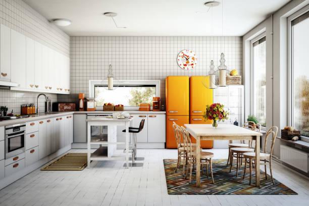 北欧キッチン:スマホ壁紙(壁紙.com)