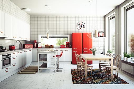 Color Image「Scandinavian Domestic Kitchen」:スマホ壁紙(6)