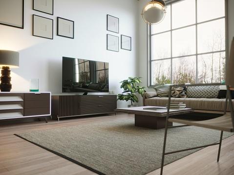 Clean「Scandinavian Style Living Room Interior」:スマホ壁紙(10)