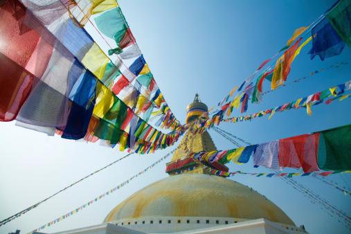 Praying「Buddha Stupa in Kathmandu, Nepal」:スマホ壁紙(8)