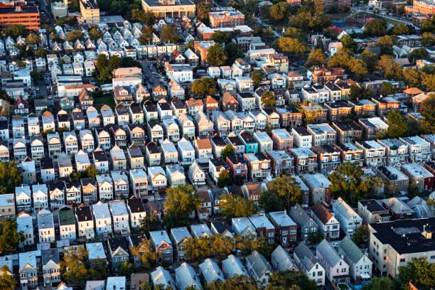 Flying over Residential District of New Jersey:スマホ壁紙(壁紙.com)