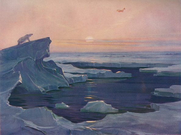 Lithograph「Flying Over The Polar Wastes」:写真・画像(0)[壁紙.com]