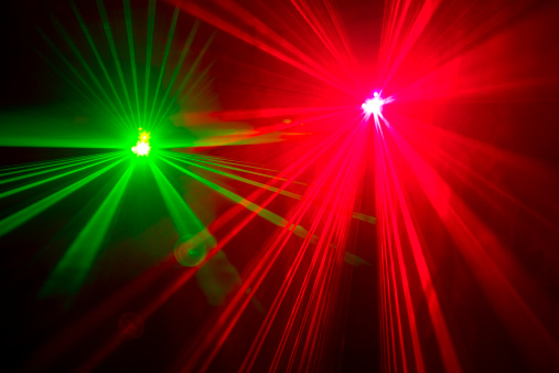 Disco Lights「Red and green laser lights, long exposure」:スマホ壁紙(6)