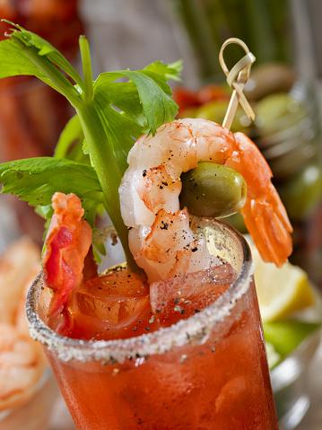 Vegetable Juice「Build Your Own Bloody Mary Bar with, Bacon, Shrimp,Celery, Asparagus.」:スマホ壁紙(18)