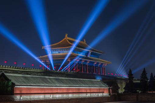 Chinese Lantern「Beijing Forbidden City night light scene」:スマホ壁紙(11)