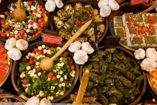 Munich「Food for display at viktualienmarkt, elevated view」:スマホ壁紙(16)