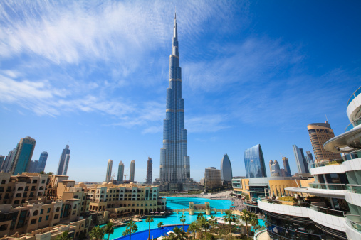 Burj Khalifa「Cityscape with Burj Khalifa, Dubai」:スマホ壁紙(2)