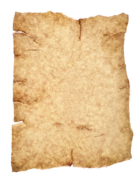 aged parchment paper with clipping path:スマホ壁紙(壁紙.com)