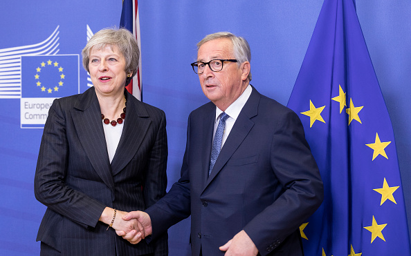 Business Finance and Industry「The British Prime Minister Makes A Flying Visit To Brussels Ahead Of Weekend EU Summit」:写真・画像(1)[壁紙.com]