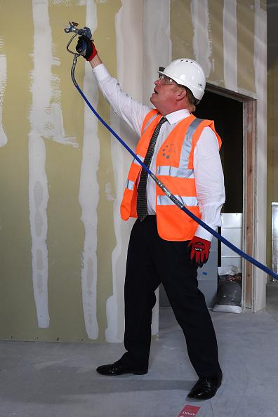 Adhesive Bandage「UK Prime Minister Visits Construction Site At Hereford County Hospital」:写真・画像(16)[壁紙.com]