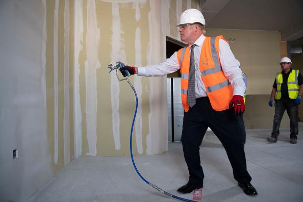 Adhesive Bandage「UK Prime Minister Visits Construction Site At Hereford County Hospital」:写真・画像(17)[壁紙.com]