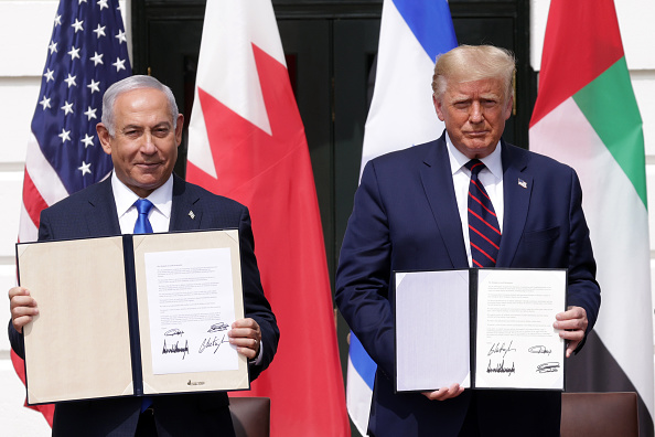 Middle East「President Trump Hosts Abraham Accords Signing Ceremony On White House South Lawn」:写真・画像(10)[壁紙.com]