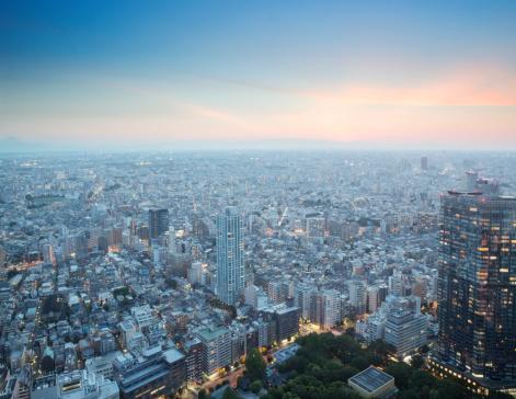 Dawn「Cityscape, Tokyo, Japan」:スマホ壁紙(13)