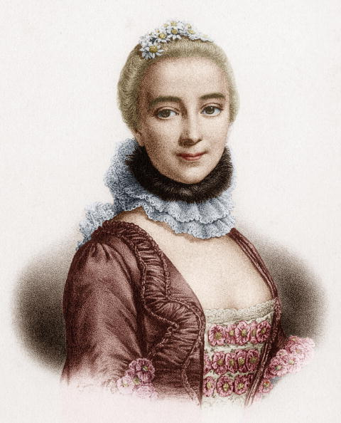 Chatelet Theatre「Gabrielle Emilie de Breteuil (1706-1749) marquess of Chatelet french woman of letters mistress of Voltaire, engraving colorized document」:写真・画像(0)[壁紙.com]