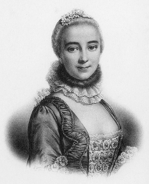 Chatelet Theatre「Gabrielle Emilie de Breteuil (1706-1749) marquess of Chatelet french woman of letters mistress of Voltaire, engraving」:写真・画像(1)[壁紙.com]
