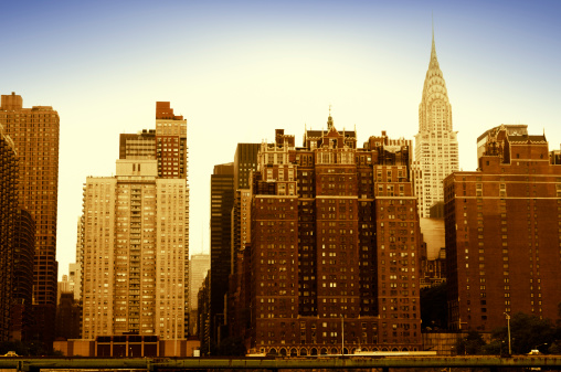 1960-1969「Tudor City Skyline and Chrysler Building,NYC」:スマホ壁紙(17)