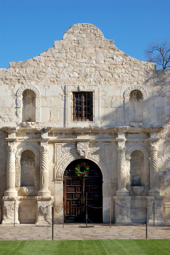 19th Century「The Alamo in early evening」:スマホ壁紙(4)