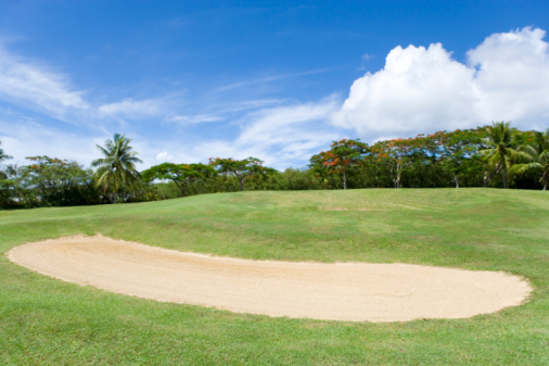 Sand Trap「Bunker in golf course, Saipan, USA 」:スマホ壁紙(13)