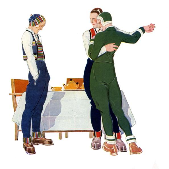 スキーブーツ「Dancing in the late afternoon at a ski resort -  1930s」:写真・画像(0)[壁紙.com]
