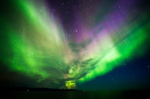 北極「Aurora Borealis 、アイスランド」:スマホ壁紙(7)