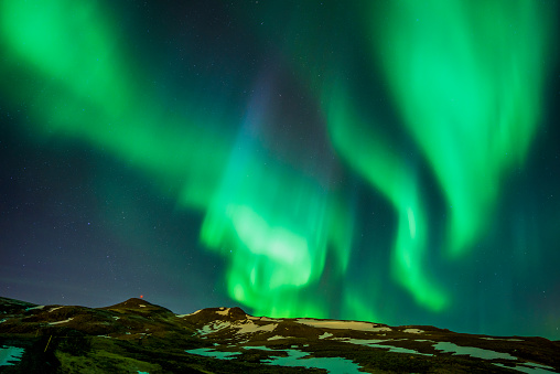 Volcanic Landscape「Aurora Borealis, Iceland」:スマホ壁紙(6)
