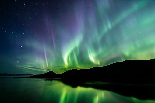 Beauty In Nature「Aurora Borealis - northern lights - southeast Alaska」:スマホ壁紙(7)