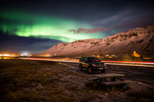 Picnic Table「Aurora Borealis or Northern Lights, Iceland」:スマホ壁紙(4)