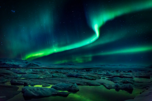 Aurora Polaris「Aurora Borealis or Northern lights, Iceland」:スマホ壁紙(13)