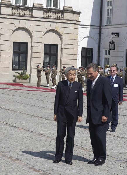 Emperor Akihito「Visit of the Emperor of Japan Akihito with his wife in Poland」:写真・画像(9)[壁紙.com]