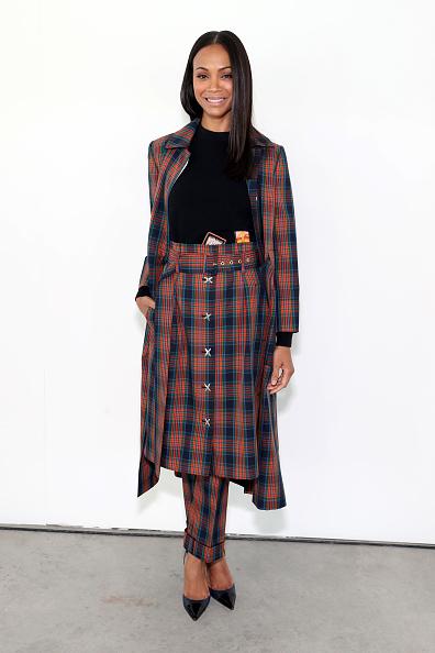 Zoe Saldana「Tory Burch Fall Winter 2019 Fashion Show - Backstage」:写真・画像(15)[壁紙.com]