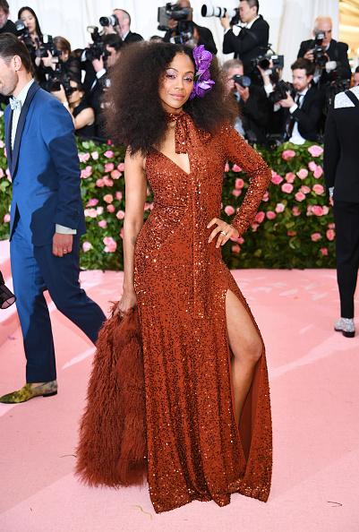 Zoe Saldana「The 2019 Met Gala Celebrating Camp: Notes on Fashion - Arrivals」:写真・画像(4)[壁紙.com]