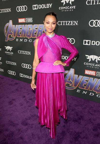 "Zoe Saldana「Los Angeles World Premiere Of Marvel Studios' ""Avengers: Endgame""」:写真・画像(13)[壁紙.com]"