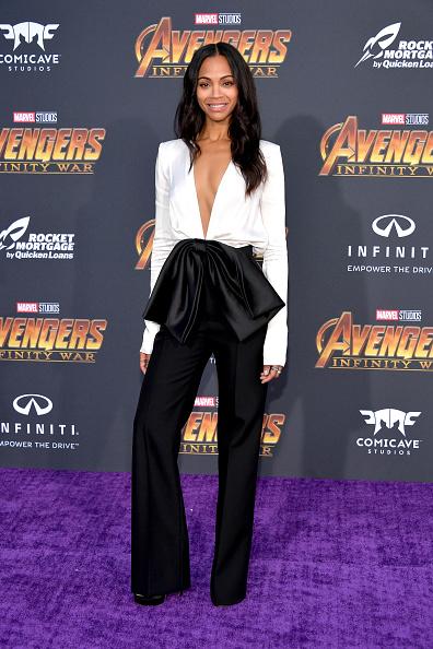 "Zoe Saldana「Premiere Of Disney And Marvel's ""Avengers: Infinity War"" - Arrivals」:写真・画像(14)[壁紙.com]"
