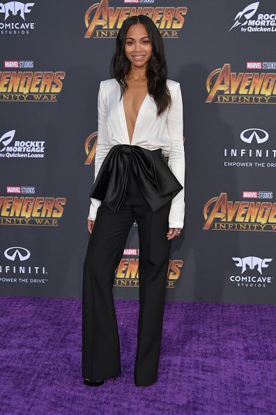 "Zoe Saldana「Premiere Of Disney And Marvel's ""Avengers: Infinity War"" - Arrivals」:写真・画像(2)[壁紙.com]"