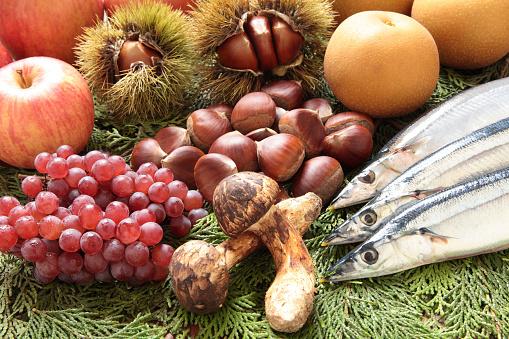 栗「Autumn Foods」:スマホ壁紙(12)