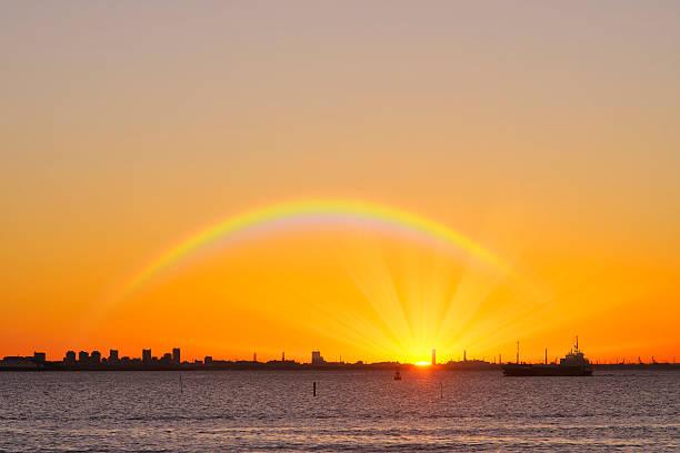 Rainbow Over Makuhari:スマホ壁紙(壁紙.com)
