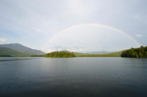 Adirondack Forest Preserve「Rainbow over lake placid」:スマホ壁紙(10)