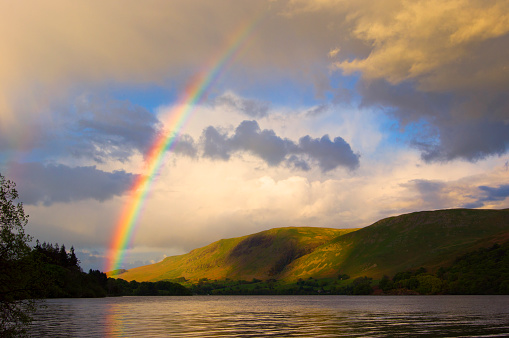 虹「Rainbow over Ullswater.」:スマホ壁紙(11)